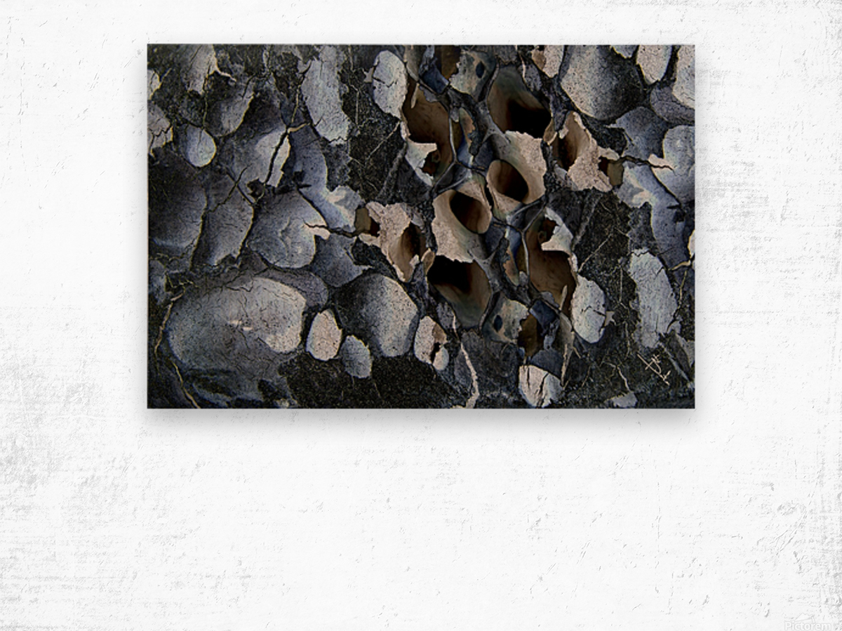 Black holes Wood print