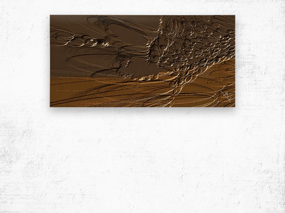 Anular turmoil Wood print