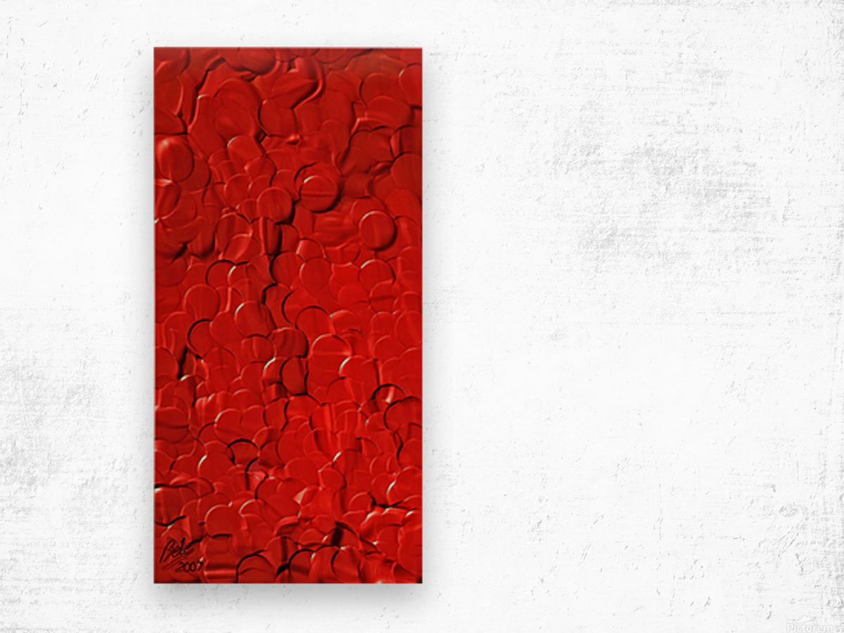 Red cells Wood print