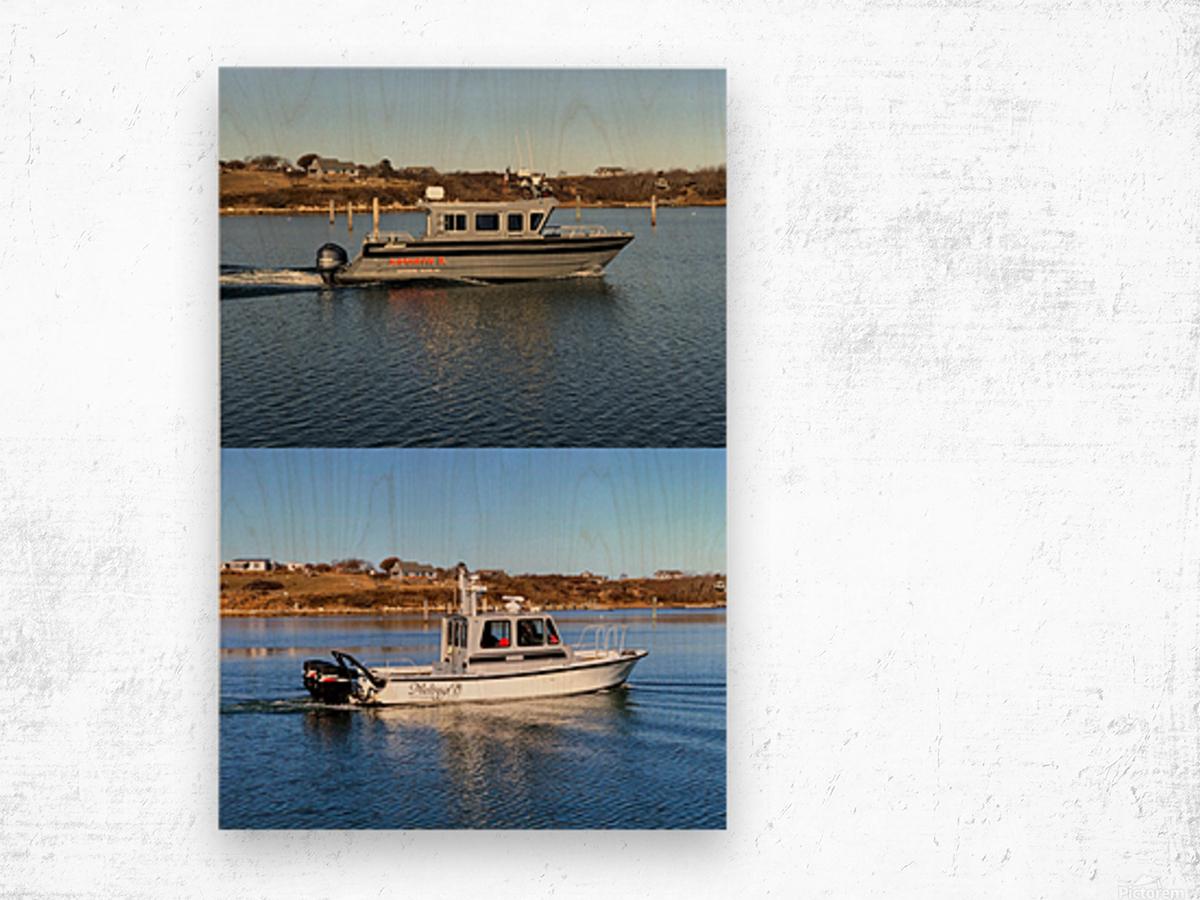 Cuttyhunk Vessels KMB 20x30 ACRYLIC 4 PRINT Wood print
