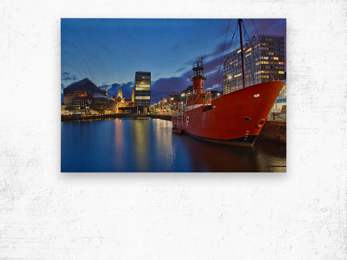LIV 003 Liverpool Dock Wood print