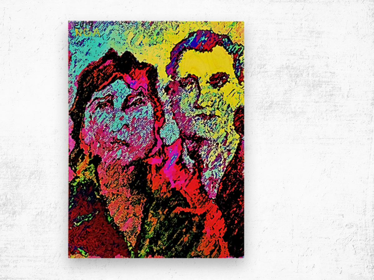 The Happily Married Couple  - by Neil Gairn Adams  Wood print
