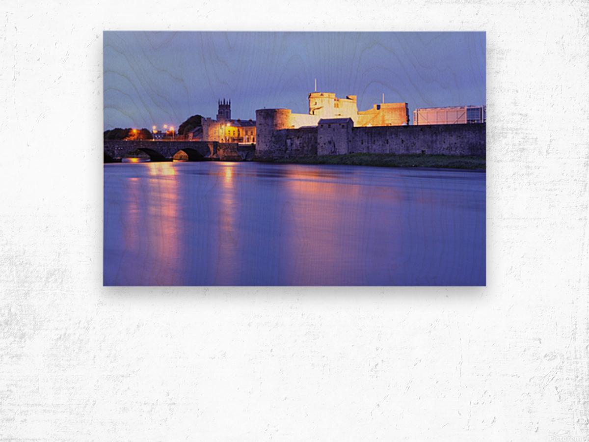 LK 016 King Johns Castle Wood print
