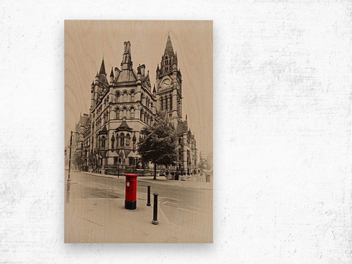 MAN 023 Manchester Town Hall Wood print