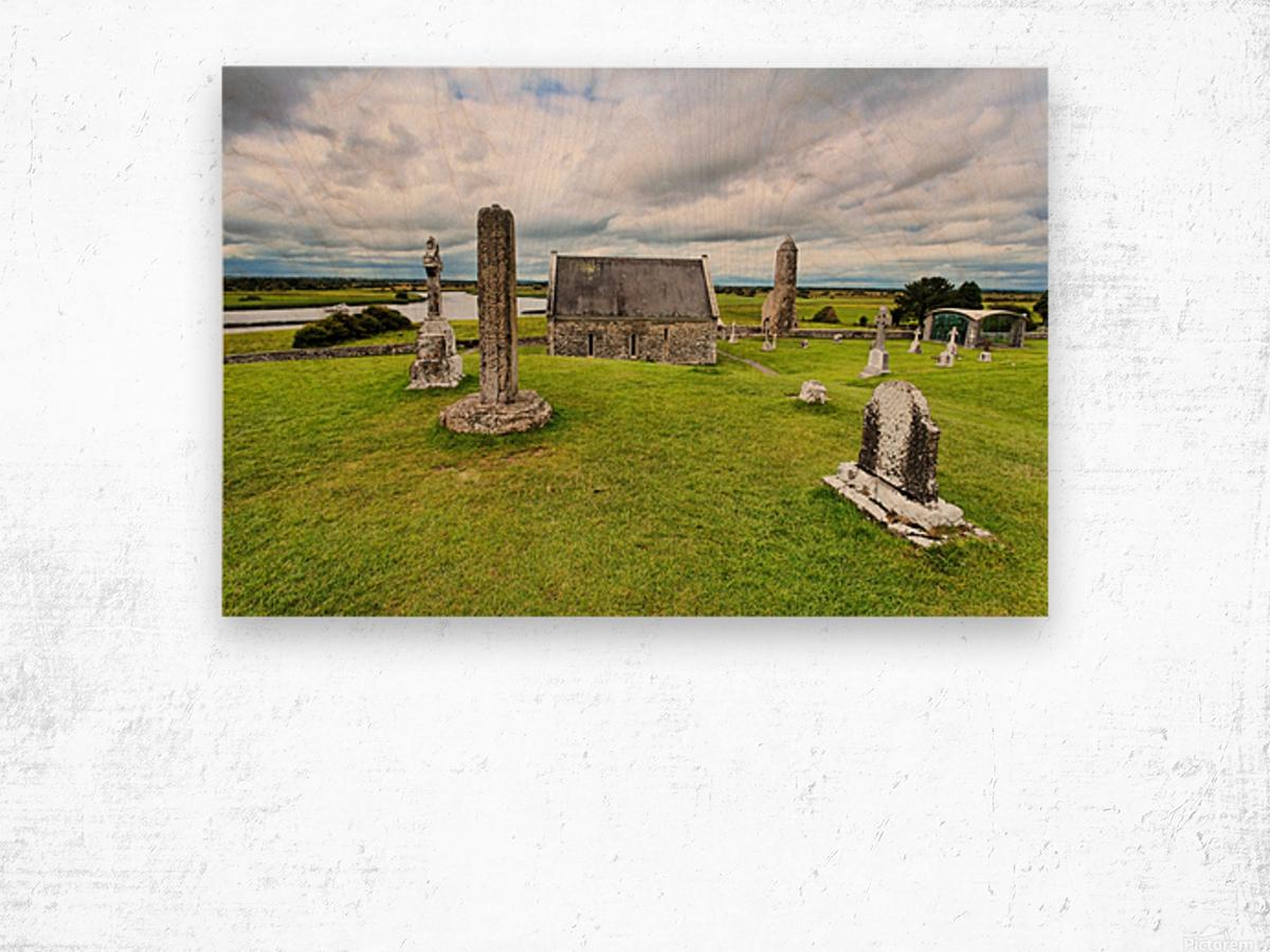 OY 002 Clonmacnoise Wood print