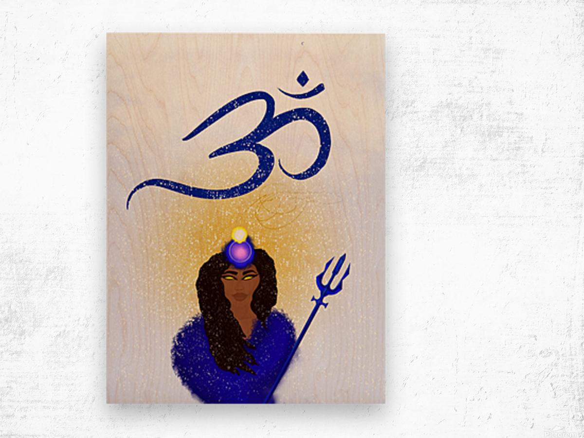 Om Goddess Wood print