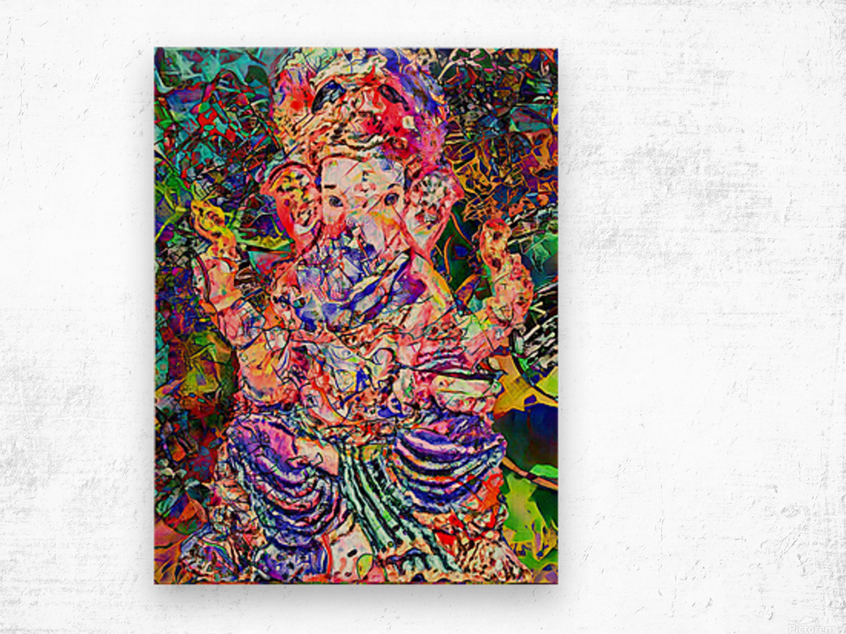 Divertido Ganesh  Wood print