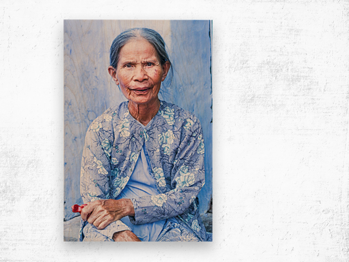 THE BLUE LADY OF HOI AN Wood print