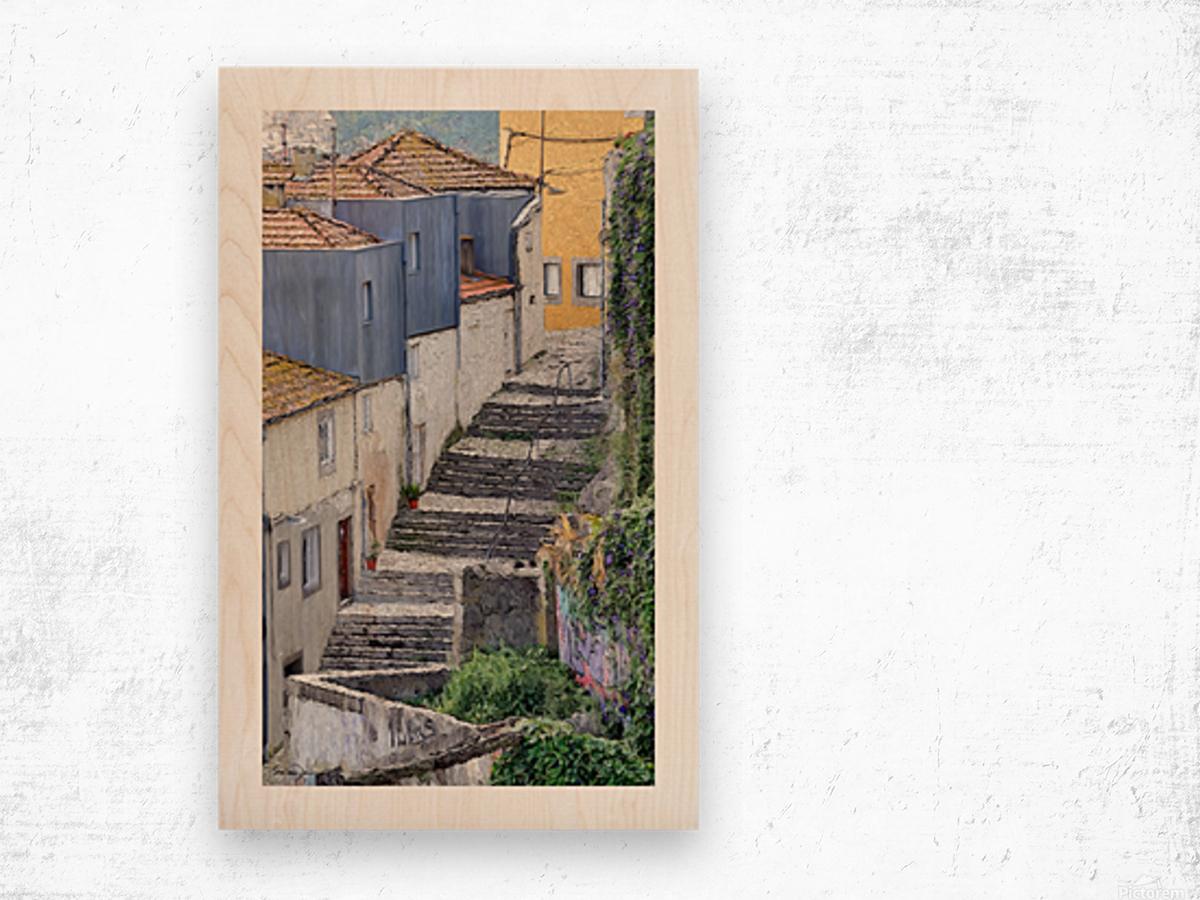 Porto vers la Ribeira Wood print