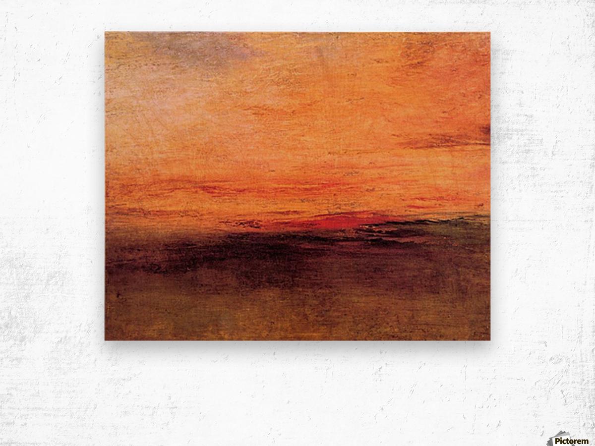 Sunset by Joseph Mallord Turner Wood print