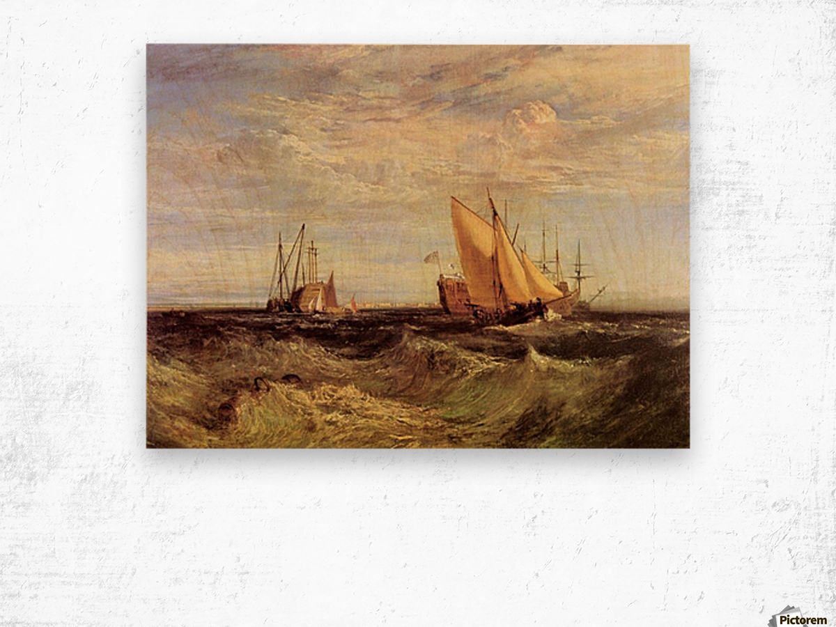 Thames at the Medway by Joseph Mallord Turner Wood print