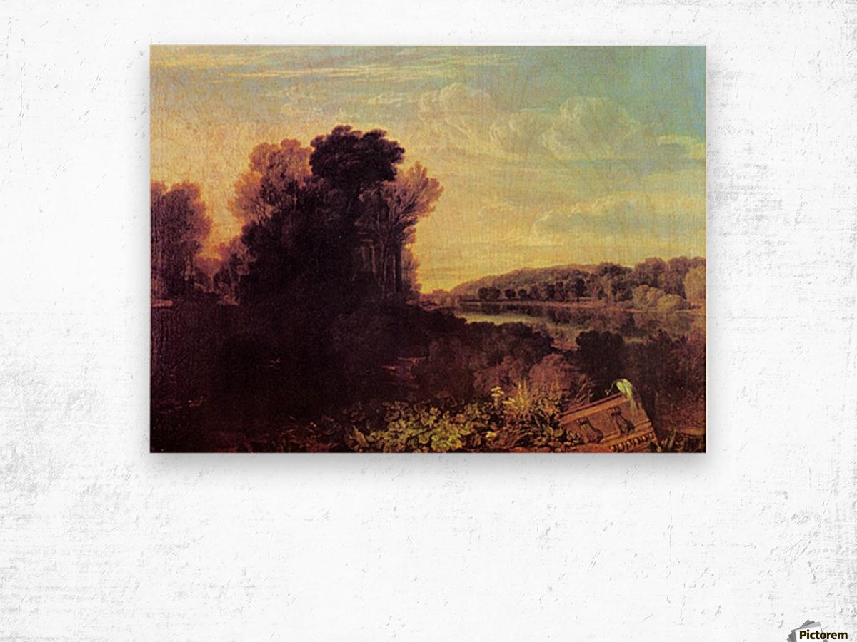 Thames at Weybridge by Joseph Mallord Turner Wood print