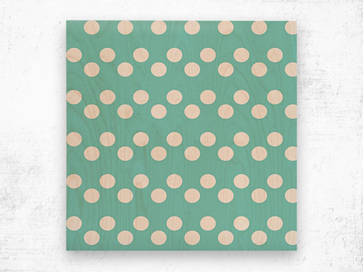 MINT Polka Dots Wood print