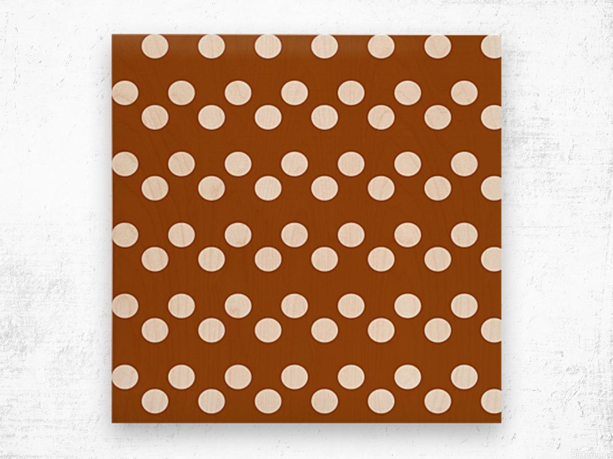 RUST Polka Dots Wood print