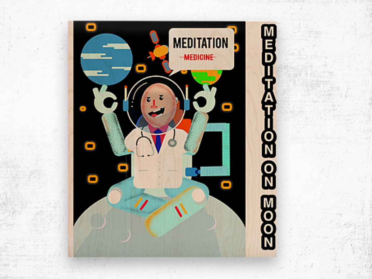 Meditation motivation  Wood print