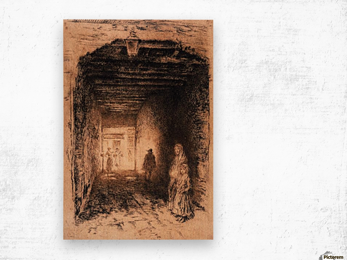 The Beggars by Whistler Wood print