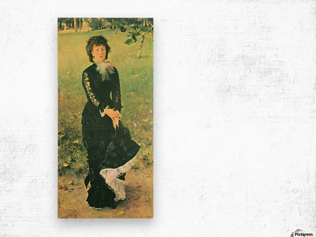 Madame Edouard Pailleron by John Singer Sargent Wood print