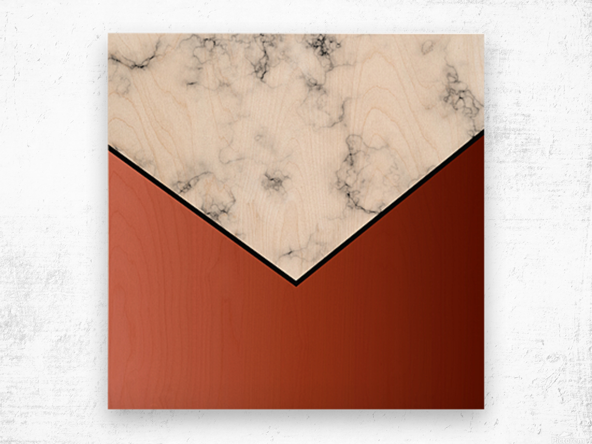 ABSTRACT BRICK MODERN MARBLE Wood print