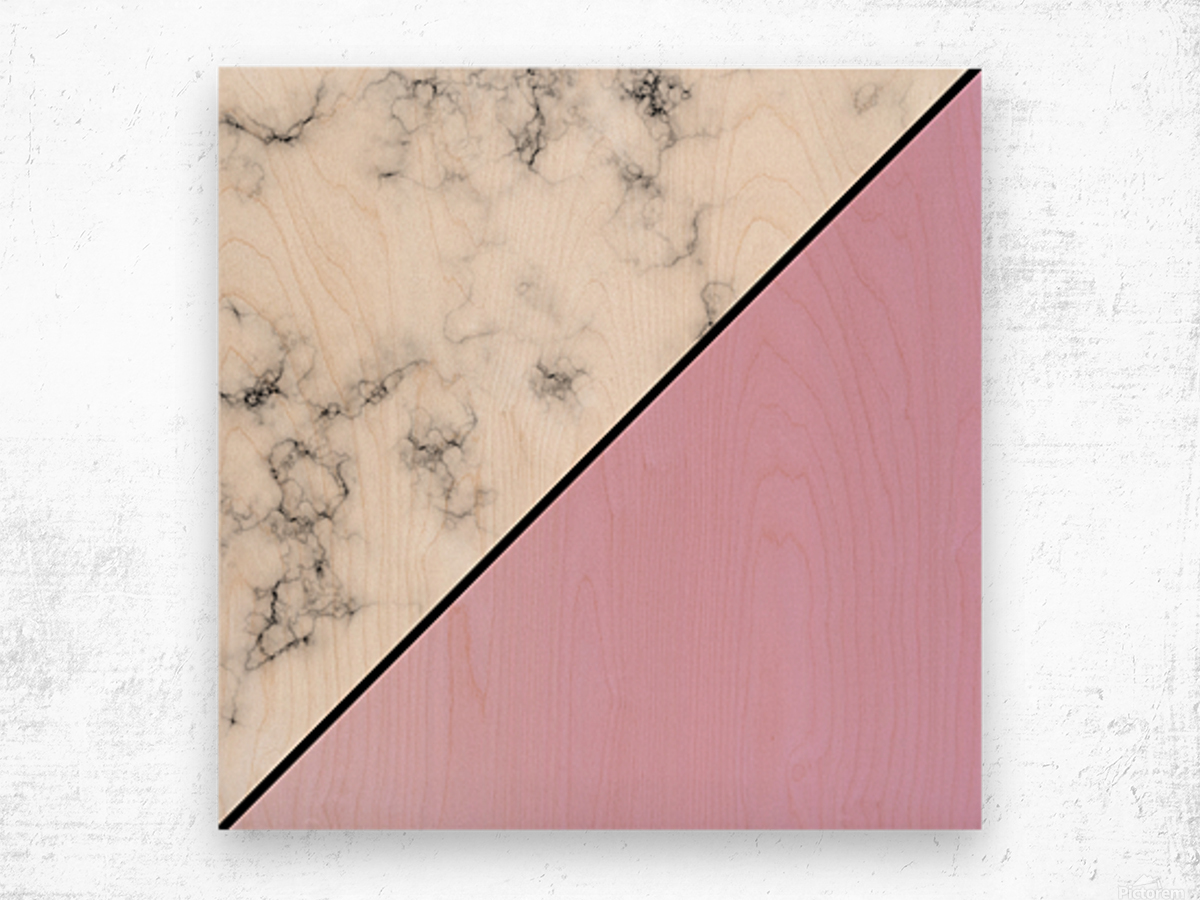 ABSTRACT MODERN PINKY MARBLE Wood print