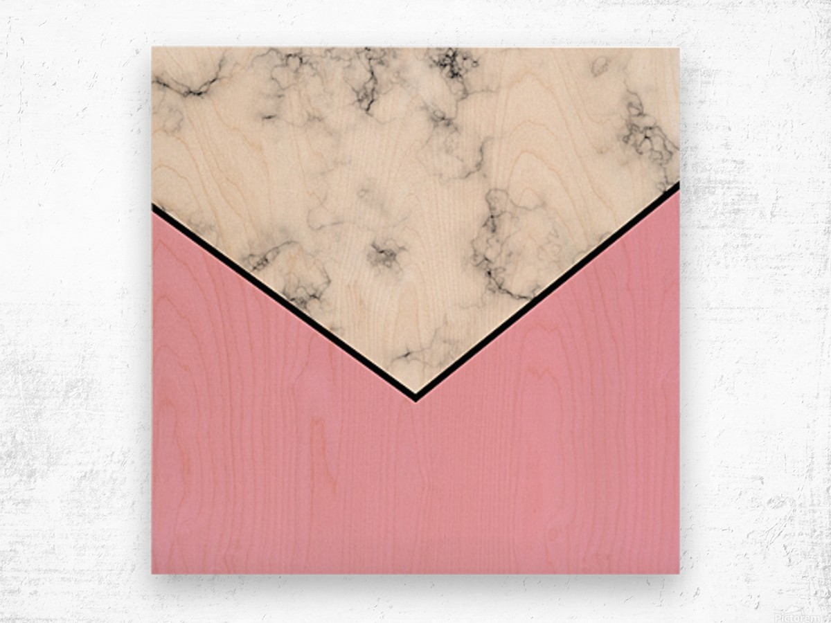 ABSTRACT PINKY MODERN MARBLE Wood print