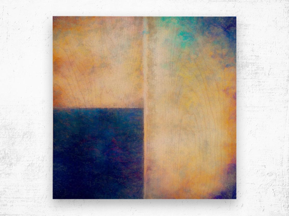 Blue Zone Wood print