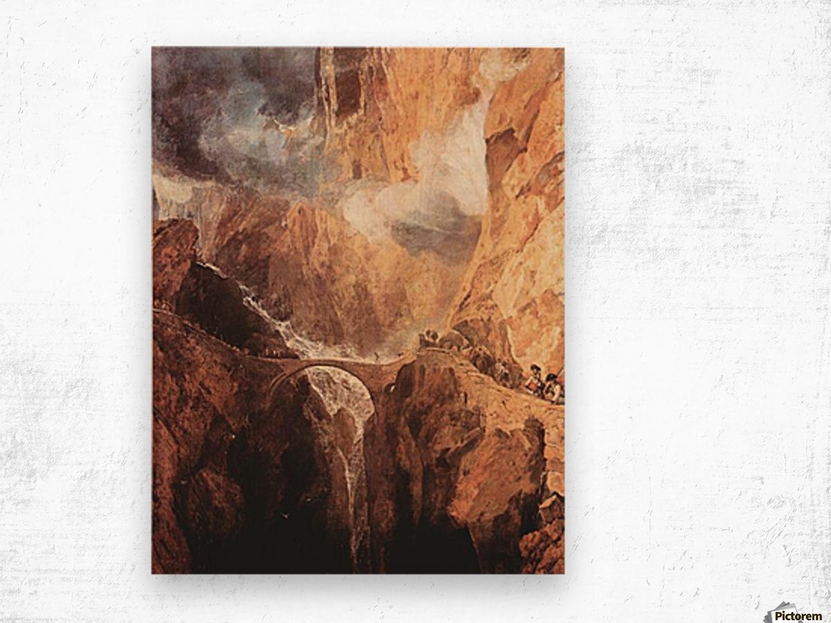 The Devils Bridge St. Gotthard by Joseph Mallord Turner Wood print