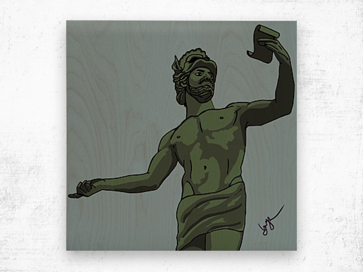 Greek Orator Wood print