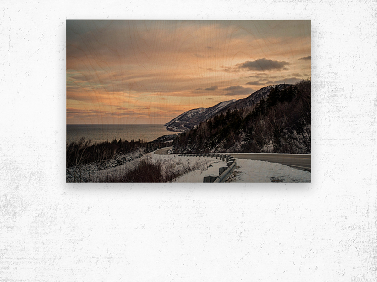 Winter Sunrise Wood print