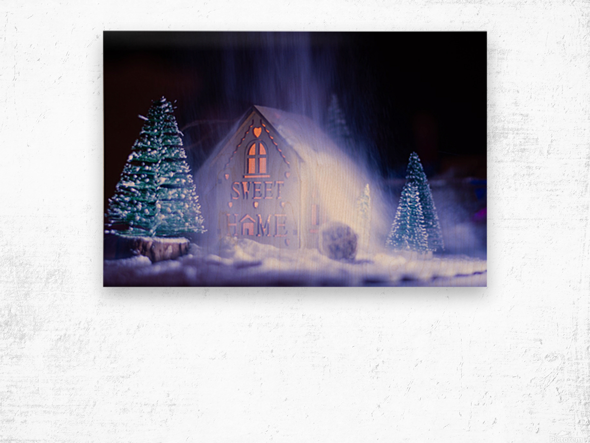 Christmas is coming Wood print