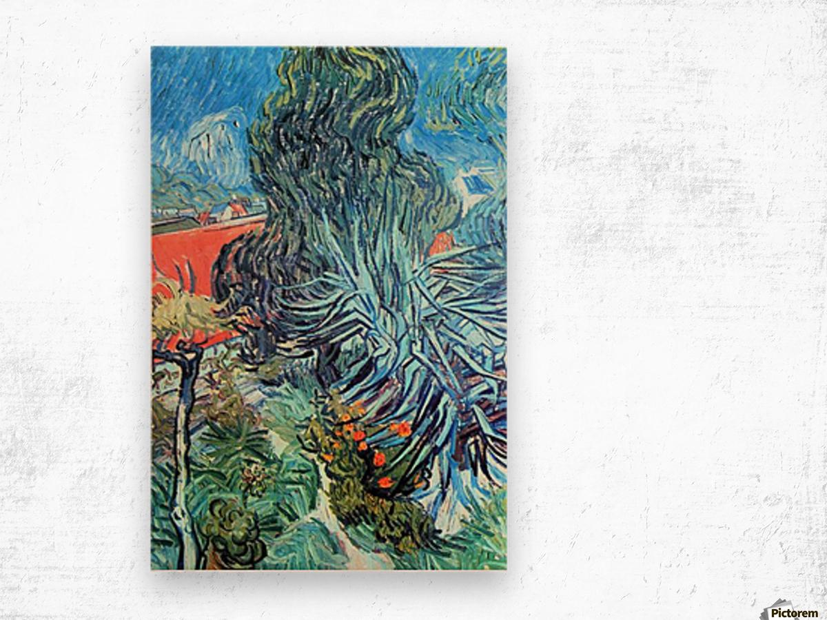 The garden of Dr. Gachet by Van Gogh Wood print