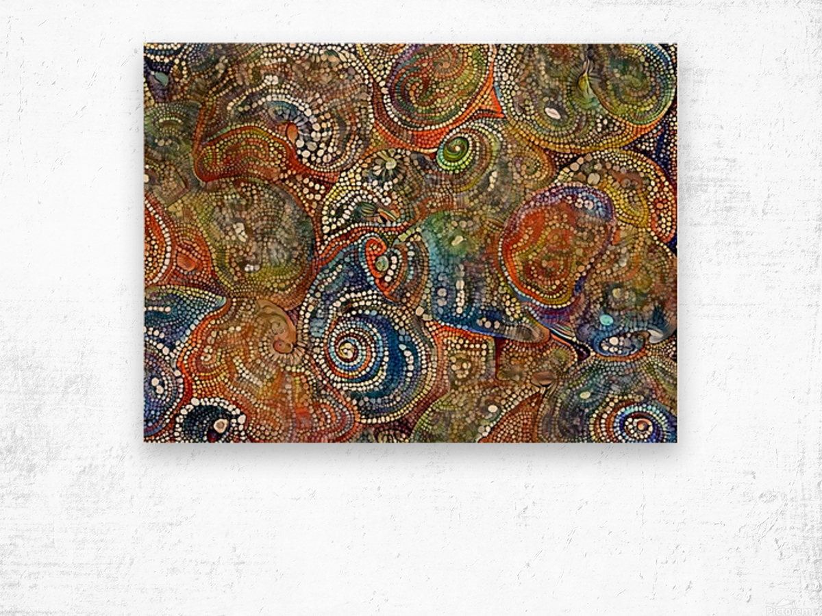 Mosaic Seashells Wood print