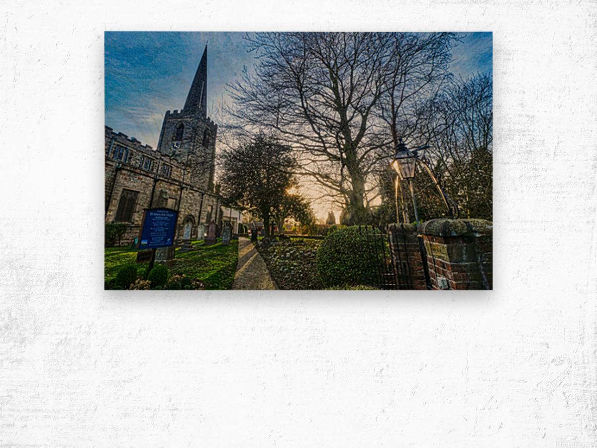Churchyard Wood print