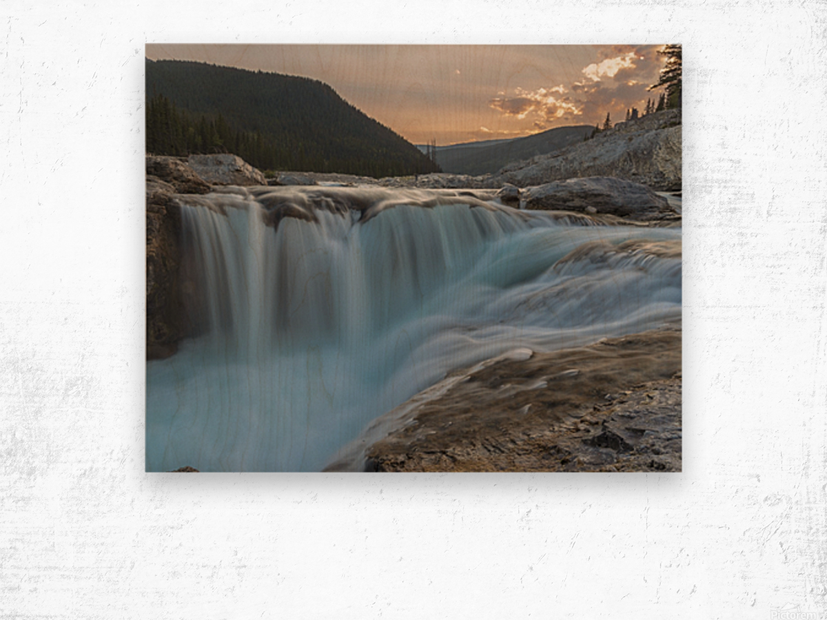 Elbow falls Wood print