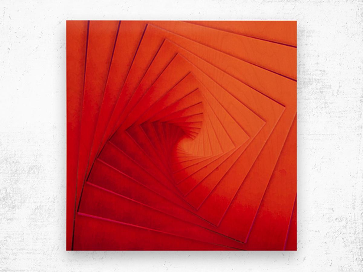 Composition Vermillon Wood print