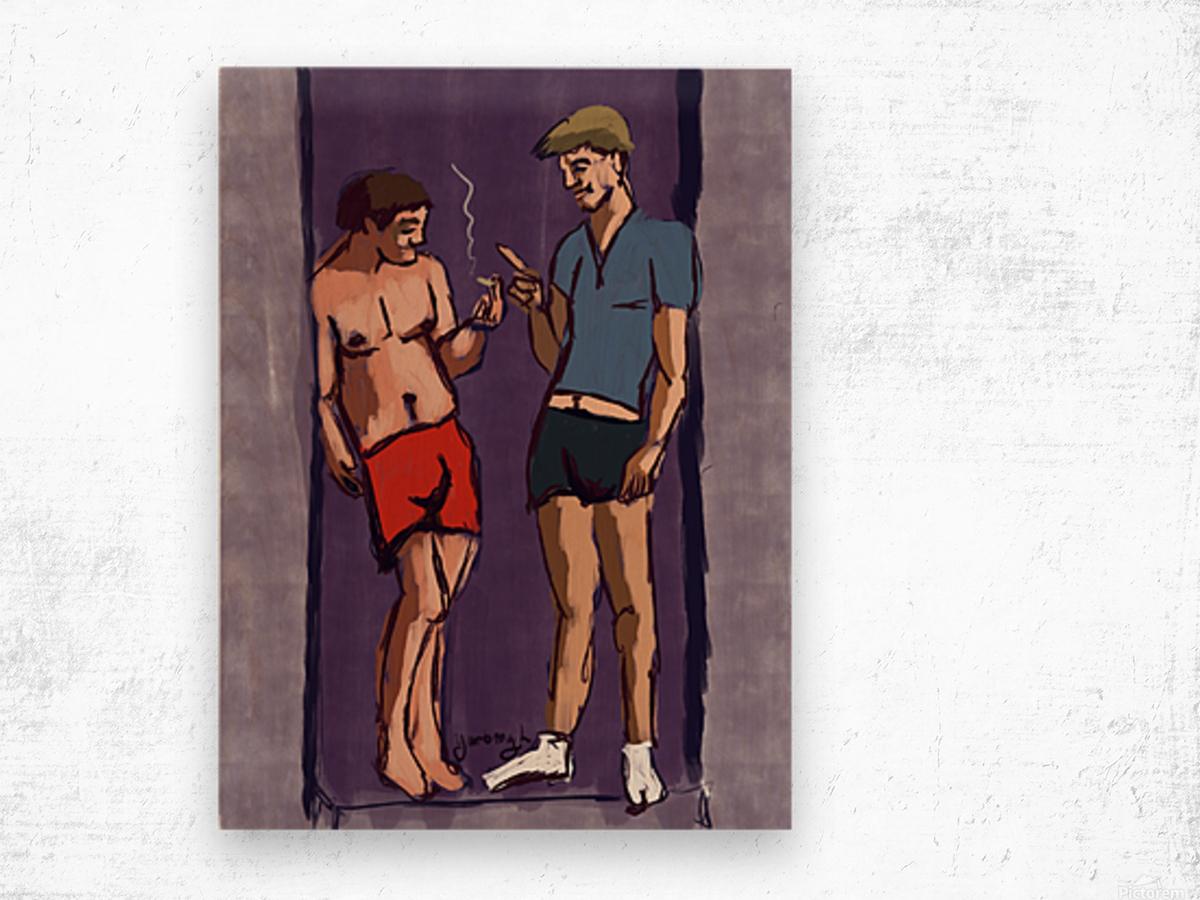 Amsterdam Boys Wood print