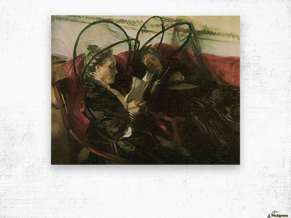Mosquito nets by John Singer Sargent Wood print
