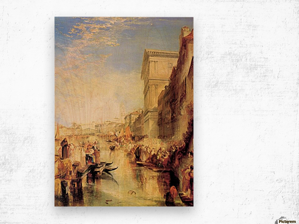 The grand canal in Venice by Joseph Mallord Turner Wood print