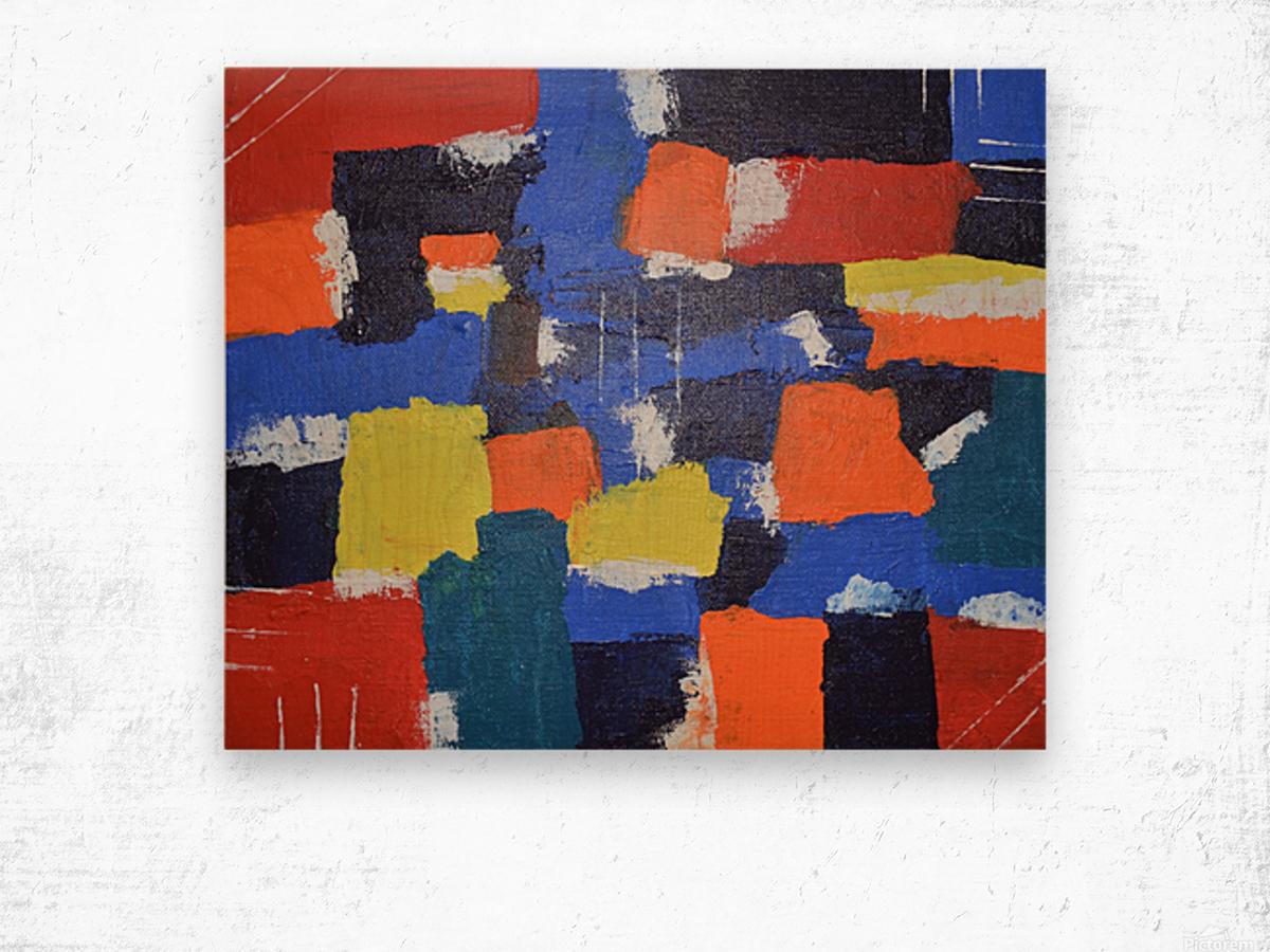 Abstract Painitng Wood print