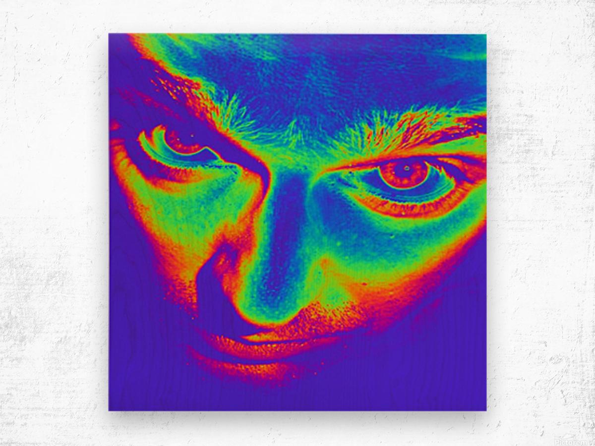 Crazy eyes Wood print
