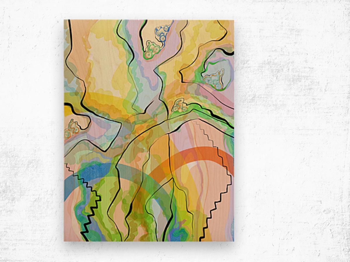 Travellers 1 Wood print