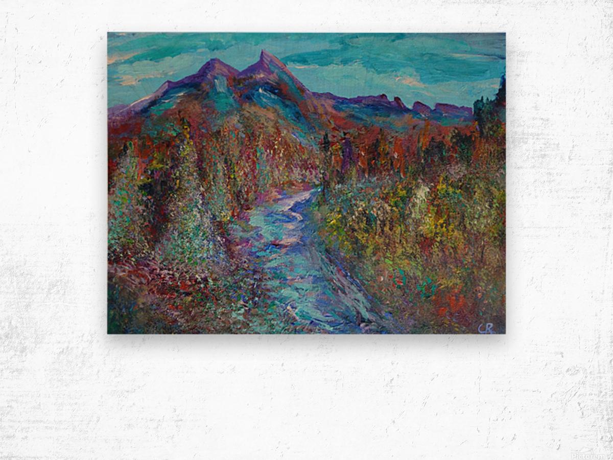 Maroon Bells and Maroon Creek Snowmass Wilderness Area Wood print