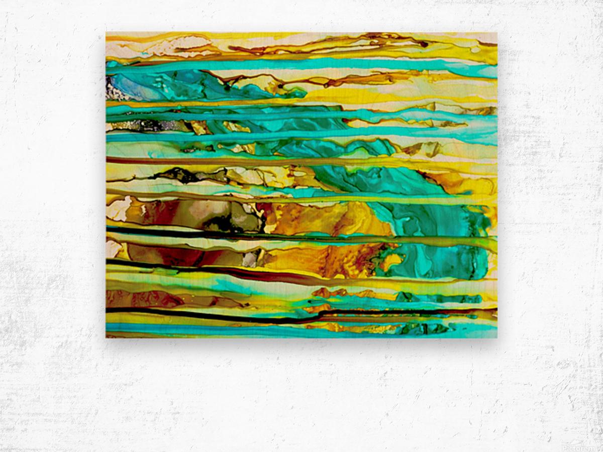 Hazy Falls  Wood print