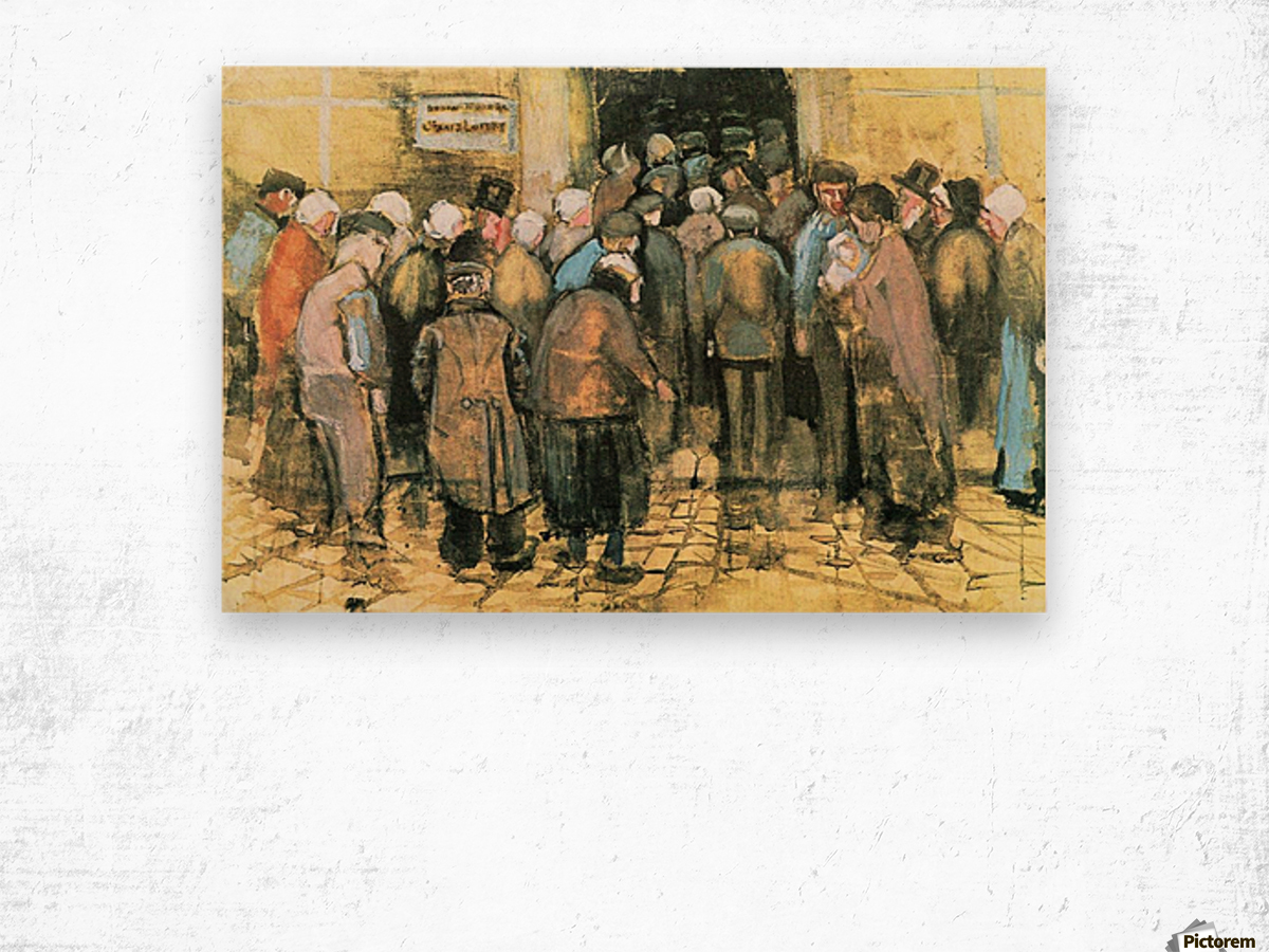 The National Lottery by Van Gogh Wood print
