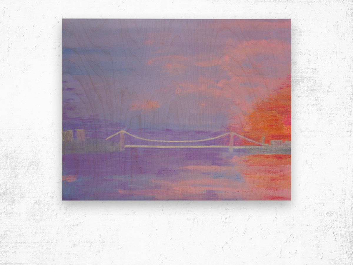 George Washington Bridge Sunrise Wood print