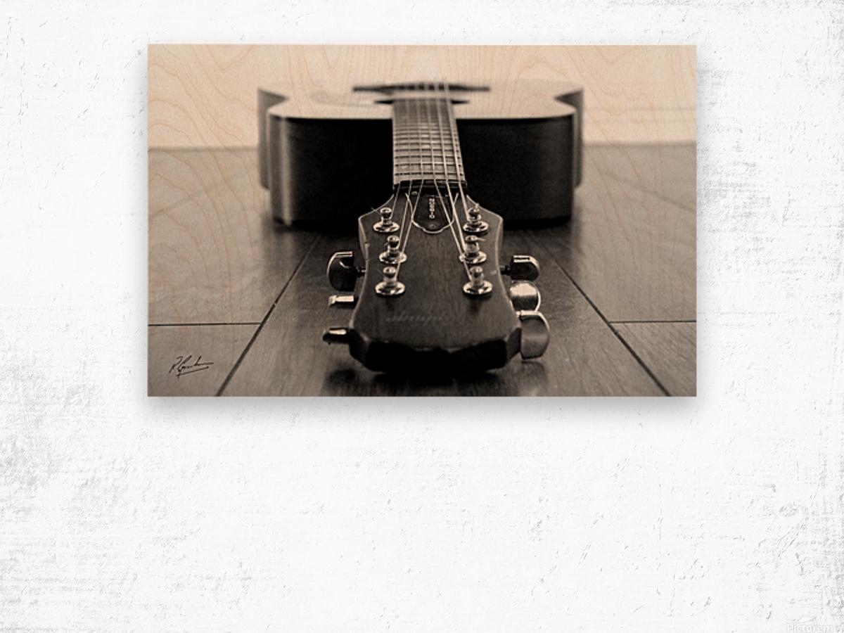 Gibson Guitar Impression sur bois