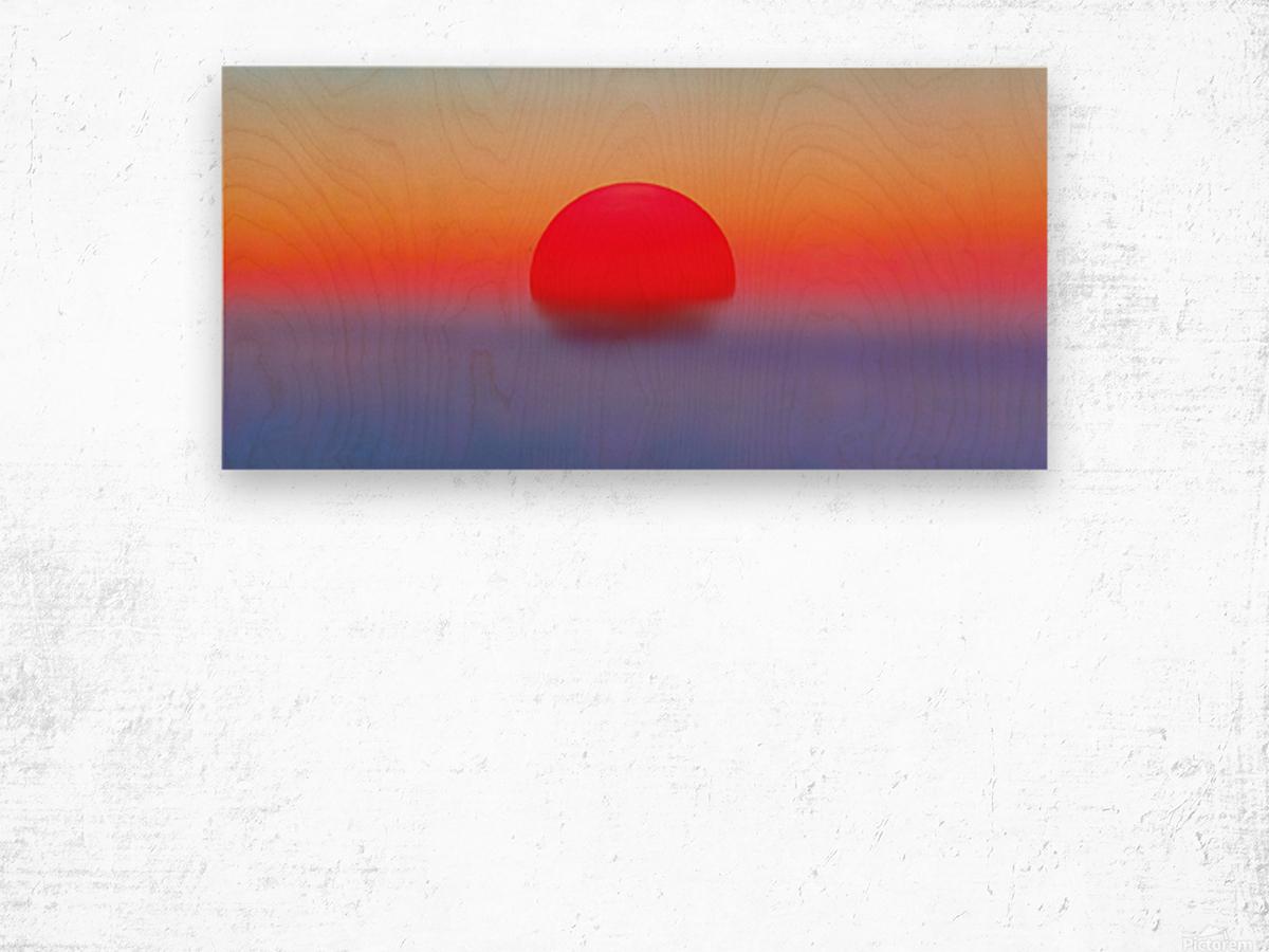 Pilots Sunrise Wood print