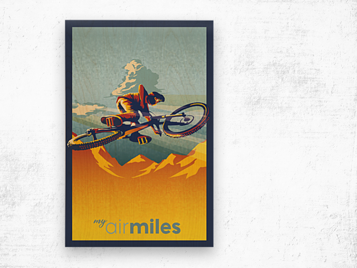 my air miles Wood print