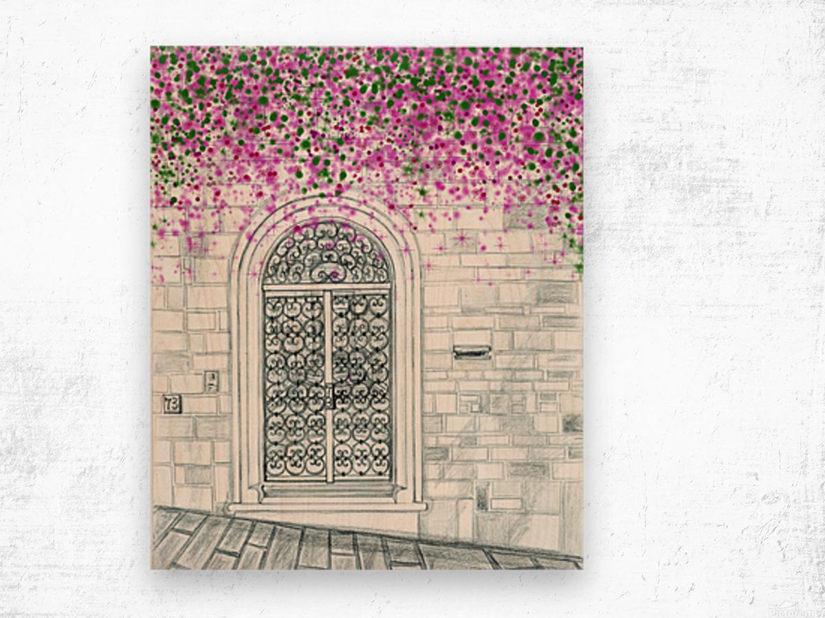 Porta in via Costa San Giorgio  Wood print