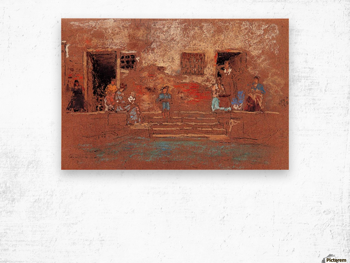 The Steps by Whistler Wood print
