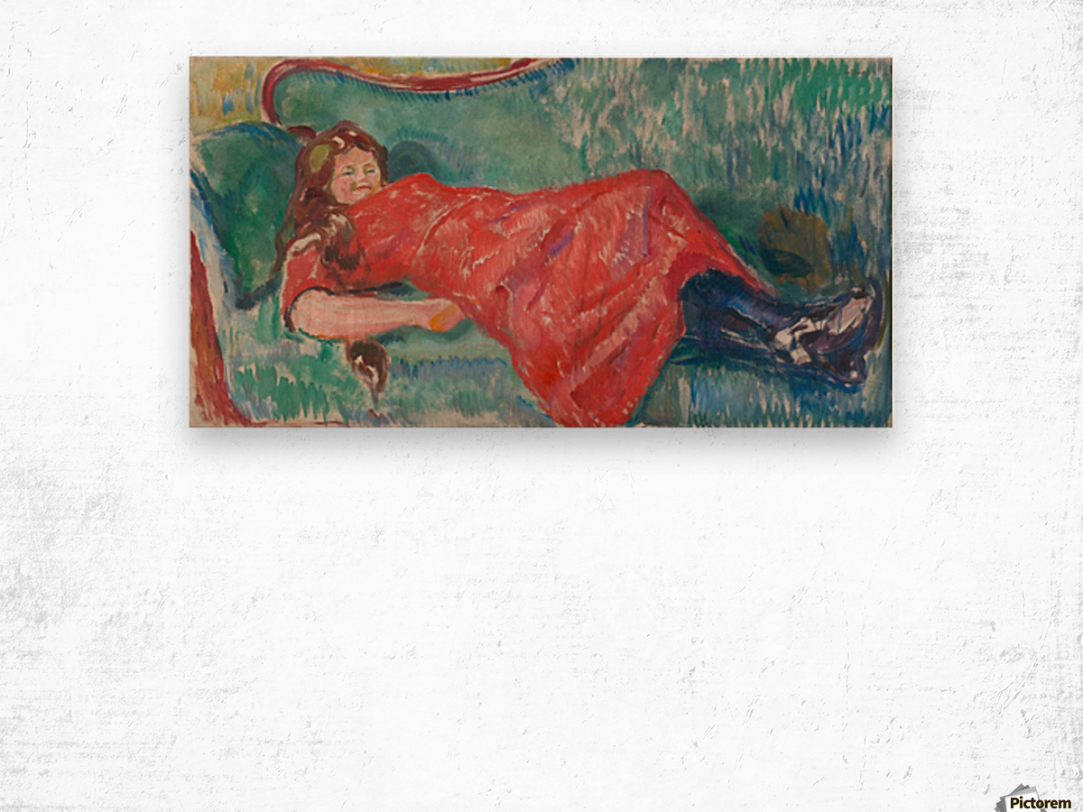 On the Sofa Wood print